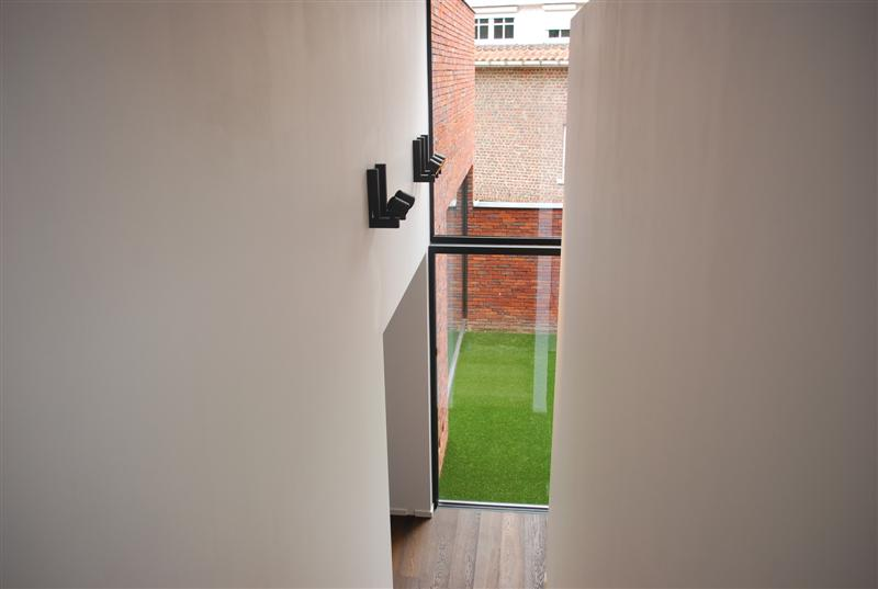 interieur trap met zich op patio
