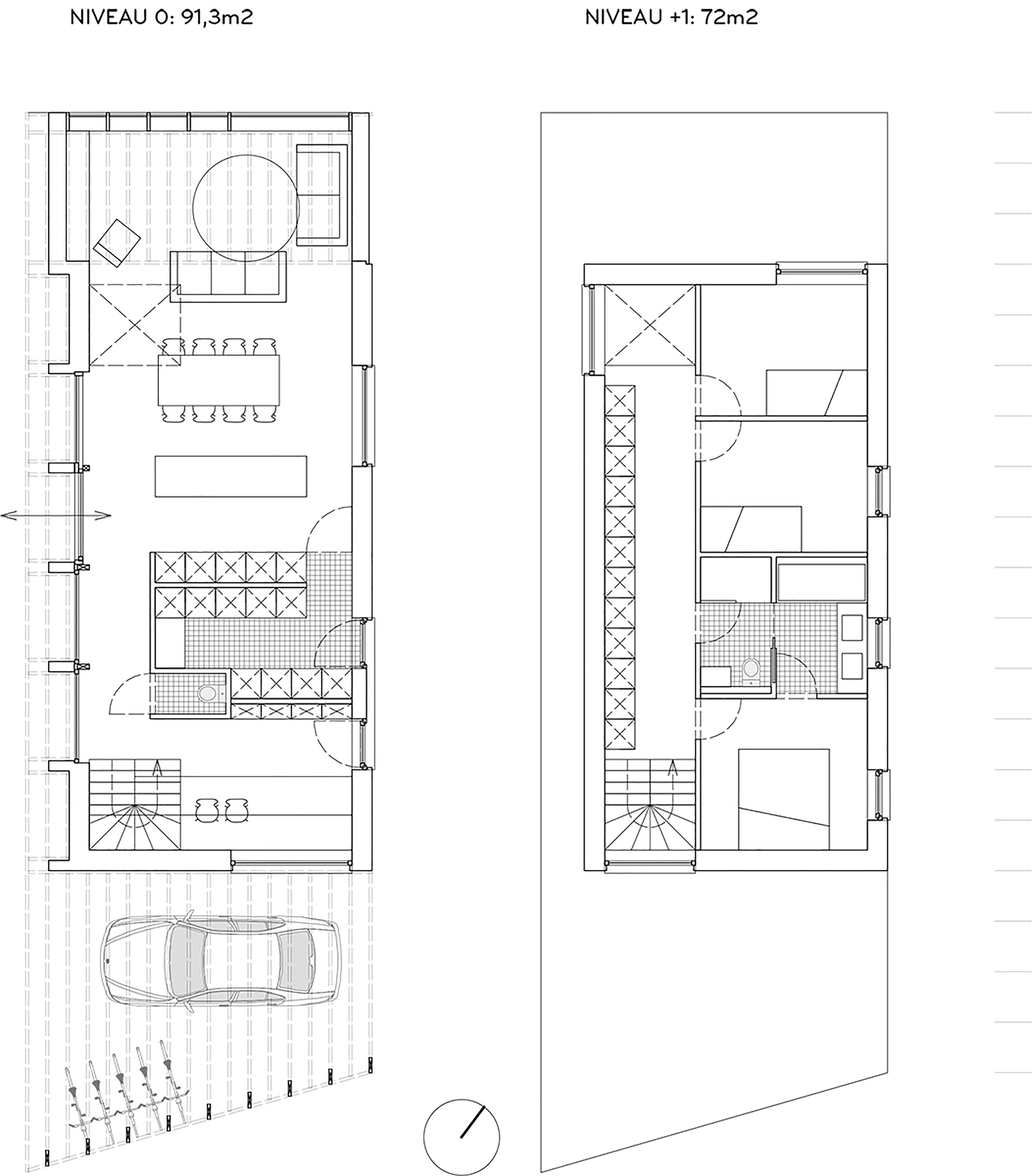 grondplan + verdiepingsplan