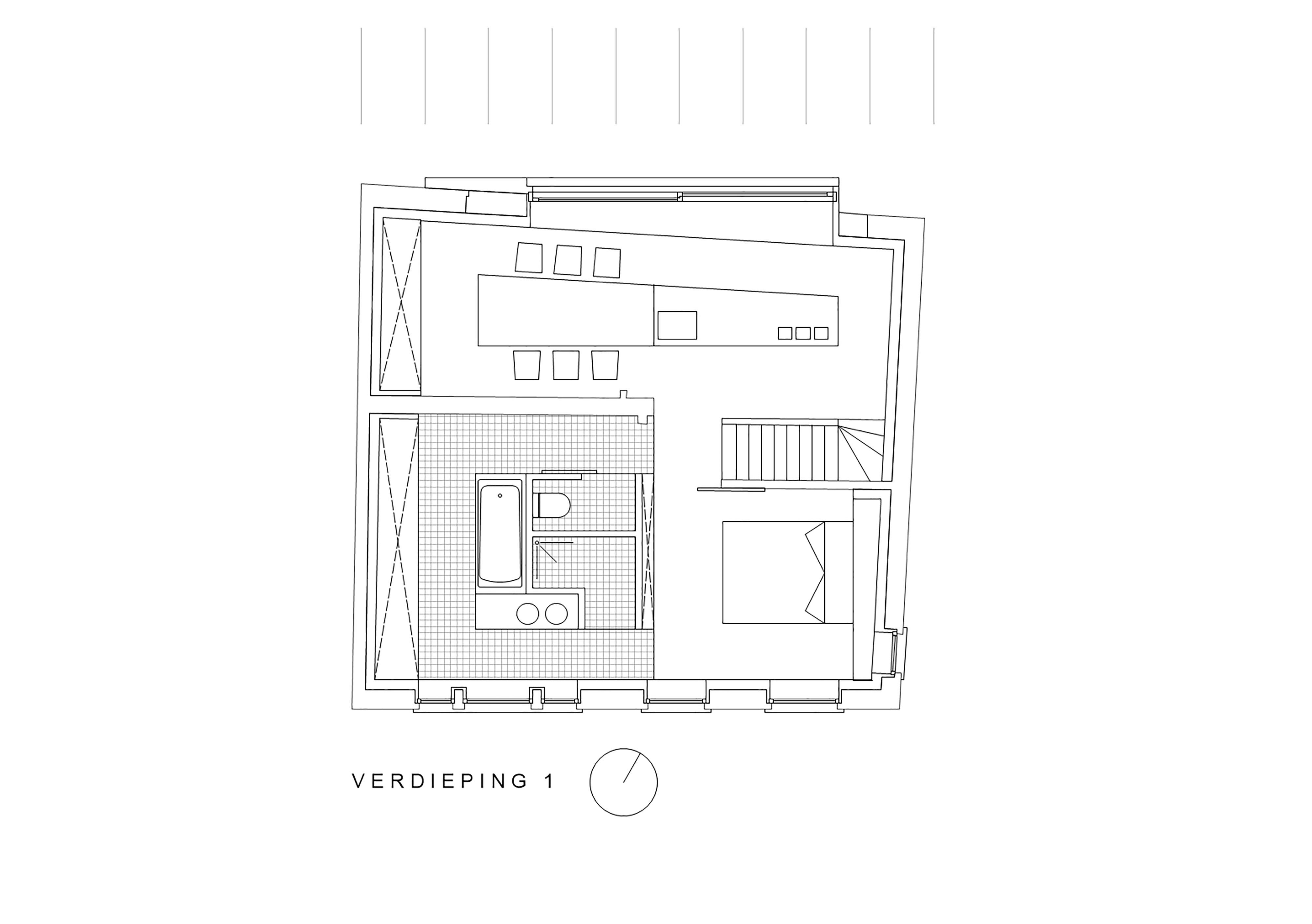grondplan verdieping 1