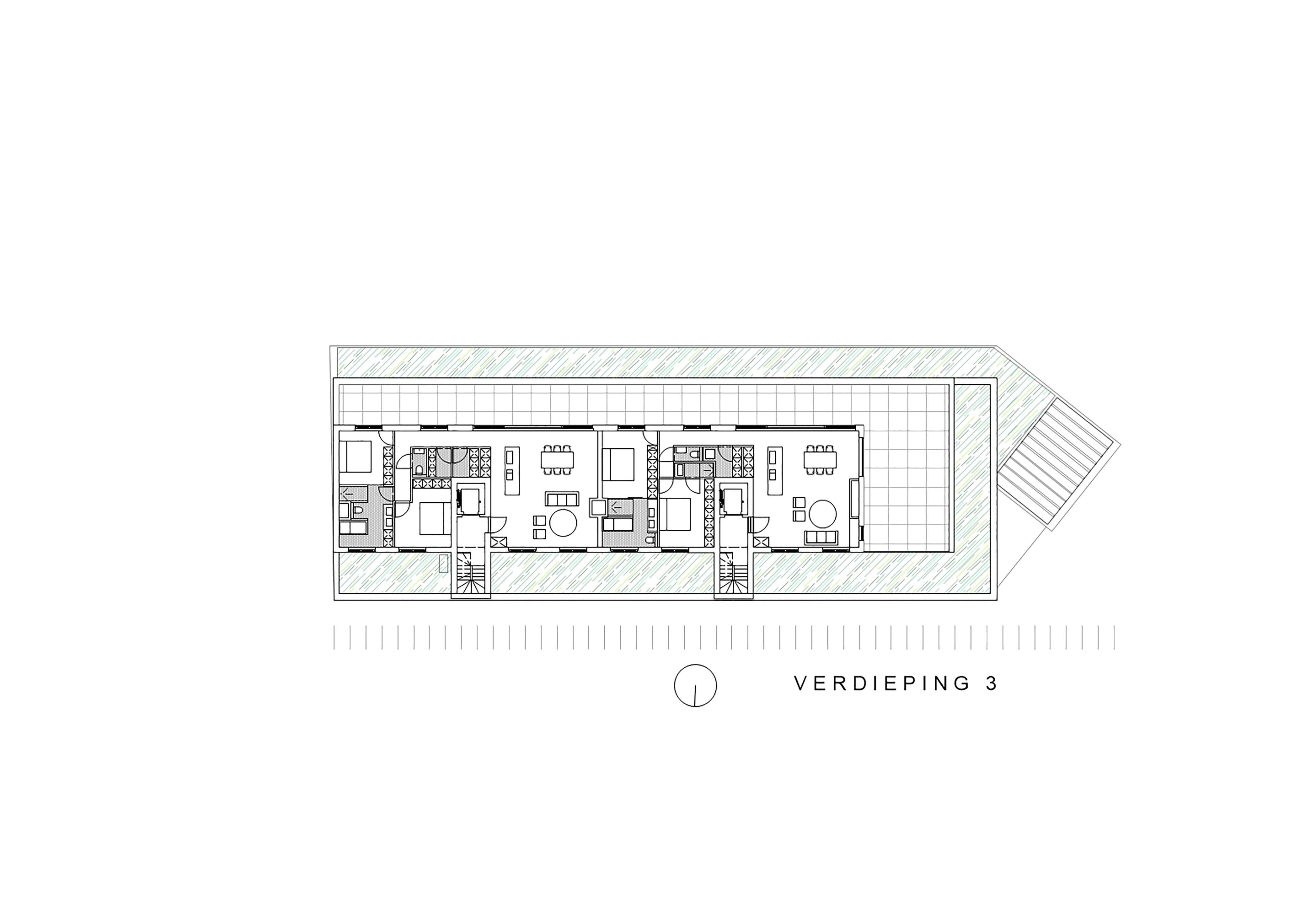 verdieping 3 appartementen